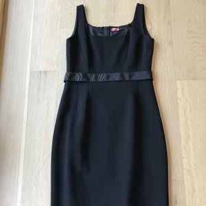 TAHARI BLACK SQUARE-NECK DRESS
